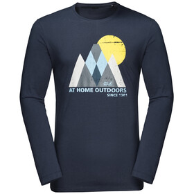 Jack Wolfskin Mountain Maglietta maniche lunghe Uomo, night blue